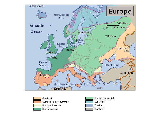 Europe Maps - 6th Grade Social Stus on